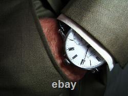 Cadeau Homme De Luxe Grande Montre En Acier Chronomètre Antique Georges Favre-jacot