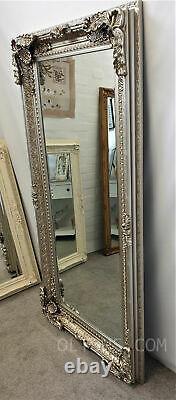 Chantelle Grande Antique Ornée Champagne Argent Vintage Leaner Miroir 172x86cm