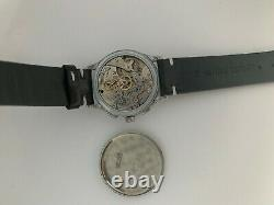 Chronographe Vintage Alpar Semos Silver Dial Grand Boîtier 35mm Venus 170 Desservi