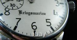 Doxa Vintage Wwii Ère Militaire Marine Kriegsmarine Grand Wristwatch