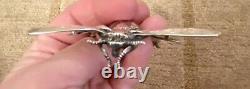 Estate Vintage Insolite Cini Sterling Silver Bee Bug Pin Broche Très Grande Rare