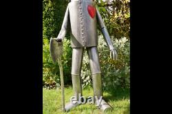 Grand 135cm Metal Tin Man Figure Vintage Garden Sculpture Lawn Statue Ornament