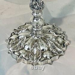 Grand 20 Plaque D'argent Candelabra Vintage Antique Style Victorien 5 Lumière 4 Bras