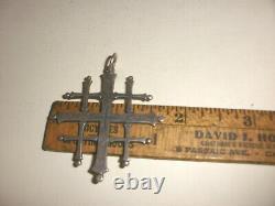 Grand 2 Vintage Retraité James Avery Sterling Silver Jerusalem Cross Pendentif