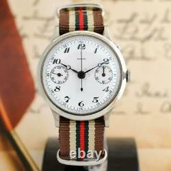 Grand Chronographe 40mm Gents Watch 1940's Original Enamel Dial Single Pusher