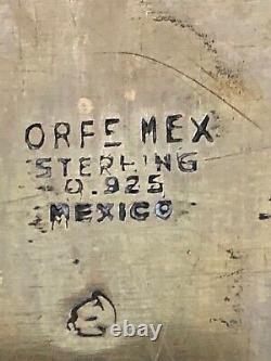 Grand Plateau En Argent Sterling Mexicain Vintage