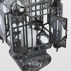 Grand Porte-chandelles De Style Marocain Antique De Lanterne Suspendu À La Main