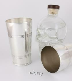 Grand Shaker Bostonien Vintage Silver Plate. Art Déco Barware C1940