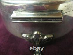 Grand Vintage Birks Sterling Silver Footed Ring Cercueil / Boîte