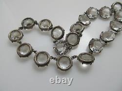Grand Vintage En Argent Sterling Clair Coller Collier Collar