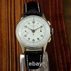 Grand Vintage Original Baume Mercier Grand Chronographe Manuelle Montre De Gents À Vent