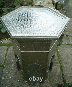 Grande Table Latérale Hexagonale Islamique Décorative