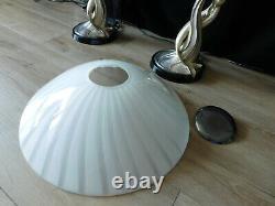 Italie Argenti MID Century Vintage Art Déco Argent Entrelacé Sirènes Paire Lamps