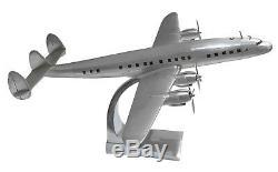 Lockheed Super Constellation Airliner Avion Modèle 27 Aluminium Desk Top Décor