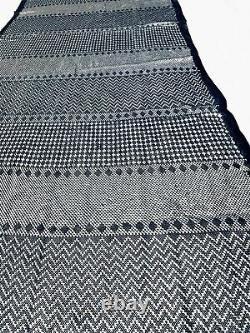 Lourd Lrg Égyptien Assiut Assuit Tulle Silver Black Shawl Wrap Veil