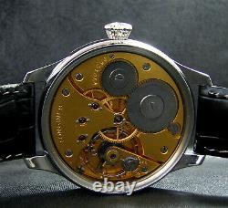 Luxe Mens Gift Antique 1927 Chronometer Grande Montre En Acier Inoxydable Porcelaine