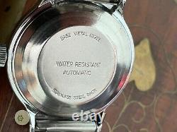 Mens Large All Original Vintage Auto D/d Montre Timex Vicomte 1978 M109 Serviced