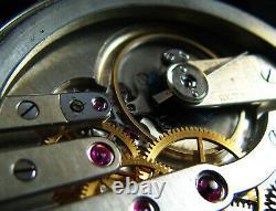 Montre De Déco Cadeau Homme De Luxe Antique 1910 Chronometer Grand Boîtier En Acier