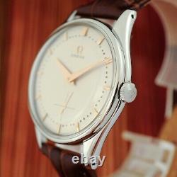 Real Vintage 1954' Omega Ref 2505 Grand 38mm St Acier Manuel Wind Gents Montre