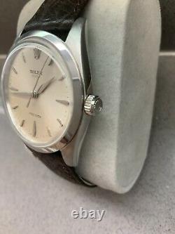 Rolex 6424 Rare Vintage Manuel Vent Mens Grand 36mm Montre
