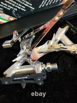 Shimano Dura Ace Nos Pd-7400 Pédales Avec De Grands Clips D'ateil Vintage Bicycle Eroica