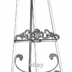 Silver Shabby Chic Miroir Easel Art Display Picture Wedding Menu Stand Large