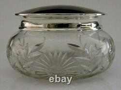 Superb Anglais Solide Sterling Silver Large Pot Box 1934 Antique 238g