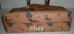 T.-n.-o. Coach Rare Ltd. Ed. Vintage Hawaiian Palm Imprimé Cuir Tote Articles En Cuir