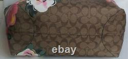 T.n.-o. Entraîneur C5785 City Tote In Signature Canvas With Vintage Rose Print