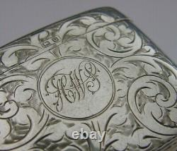 Taille Double English Sterling Silver Vesta Affaire 1919 Antique 26g