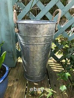 Tall Metal Garden Planter Vintage Style Plant Pot Container Umbrella Stand 40 CM