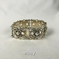 Taxco Mexican Sterling Silver Large Link Vintage Bracelet 7 Estate Jewelry Rca