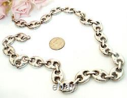 Vieille Joaillerie Fine Gucci Mariner Large Lien Collier Argent Sterling 24