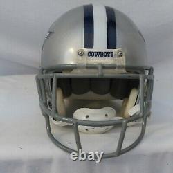 Vieux Dallas Cowboys Full Size, Riddell Vsr Casque De Football Usagé Personnalisé