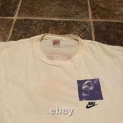 Vintage 1989 Michael Jordan Nike Hommes Taille Grand T-shirt Last Dance Silver Tag