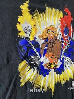 Vintage 1993 Marvel Comics Spirit Of Vengeance Ghost Rider Comic Shirt Sz L Rare