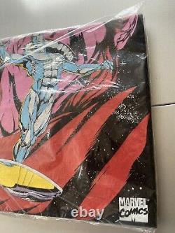 Vintage 1995 Marvel Comics Argent Surfer Comic Book Promo Chemise L Scellé Rare