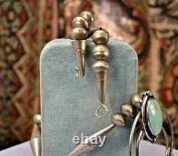 Vintage 925 Argent Sterling Grand 27 Banc Perles Naja Collier 76gr