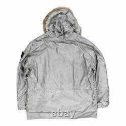 Vintage A/w 1990 N-3a Inspired Silver Raso Coloured Cover Stone Island Coat La