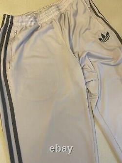 Vintage Adidas Originals Adi-firebird Tracksuit Blanc Argent Taille L