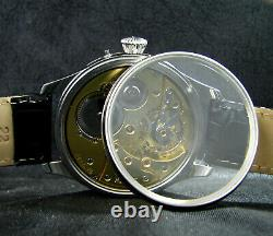 Vintage Art Déco Mariage De Luxe Montre Antique 1919 Chronometer Grande Caisse En Acier