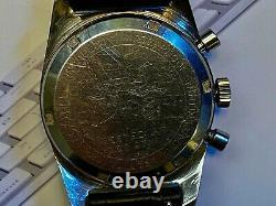 Vintage Big Eye Yachting Dans Les Années 1960 Chronographe. Grand Solide En Acier Inoxydable. Pour Réparation