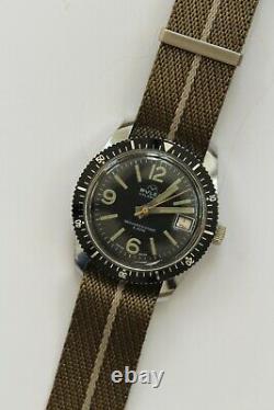 Vintage Buler Dive Watch Grand Mens Calendrier Skin Diver