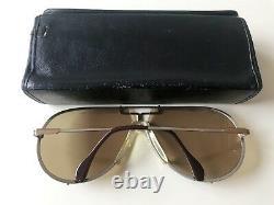 Vintage Cazal 901 Targa Lunettes De Soleil Col 52 Or Argent W. Allemagne Grande Rare 902
