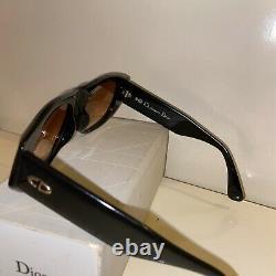 Vintage Christian Dior CD 2556 Lunettes De Soleil C. 90 Black & Silver Allemagne