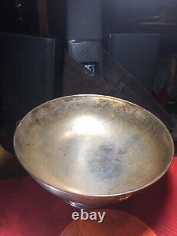 Vintage Grand Argent Massif 900 Pedestal Bowl 300 Grammes