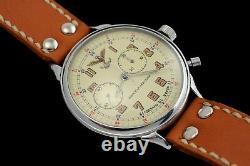 Vintage Grand Officier Militaire Navale Aviatio Slava Chronographe Soviétique De Russie