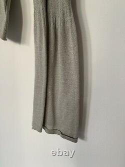 Vintage Gucci Silver Silk Bell Sleeve Ls Sheer Top Large