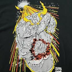 Vintage Marvel Comic Images Silver Surfer Solo Shirt (taille Large) Thrashed