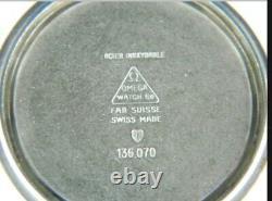 Vintage Omega Geneve 17j Cal. 613 Grande Montre Homme Inoxydable Desservie Withbox 1970